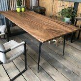 Industriële rechthoekige teak tafel