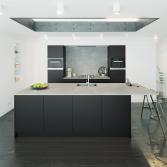 Zwarte keuken met tip-on | Keller Keukens