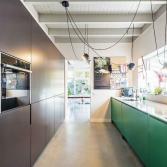 Keuken met handgeschilderde fronten