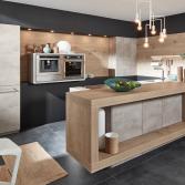 Duurzame keuken met hout en beton