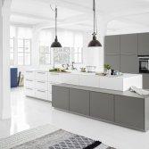 Keukenspecialist logic kitchen wit grijs product in beeld startpagina voor keuken idee n - Eigentijdse keuken grijs ...