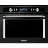 KitchenAid combi stoomoven black steel