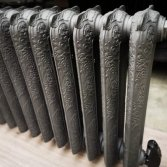 Gietijzeren elektrische artdeco radiator   Laurens Radiatoren