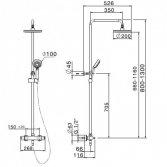 Lanesto H2 thermostatisch douchesysteem