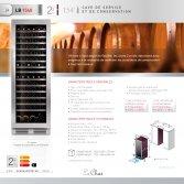 Le chai LB1540 Wijnklimaatkast 2 temperatuurzones voor 154 flessen