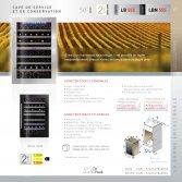 Le Chai Kolominbouw wijnklimaatkast 2 temperaturen nismaat 88cm - 50 flessen