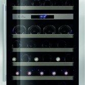 Le Chai Kolominbouw wijnklimaatkast 2 temperaturen nismaat 122 cm - 87 flessen