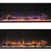 Panorama inbouwhaard | Livin' flame