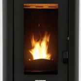 Zwarte pelletkachel | Livin' Flame
