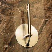 Luca Roll-in shower geborsteld nikkel
