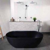 Vrijstaand zwart bad | Luca Sanitair
