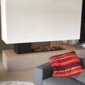Doorkijkhaard sfeervolle roomdivider | Marga Sfeervuren