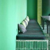 Marokkaanse wand- en vloertegel Bejmat Vert Foncee