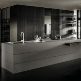 Design keukeneiland met uitschuifbare tafel