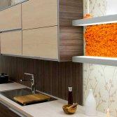 Moswand of mosschilderij in de keuken