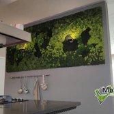 Mosschilderij met verlichting | Moswens
