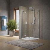Eenvoudige en strakke douchewand