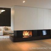 M-Design liftdeurhaard doorkijkhaard Luna Diamond