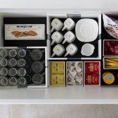 Verstelbare vakverdeler keukenlade | Orgalux