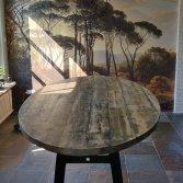 Oud gebinte tafel met 1921 poot   Woodindustries