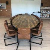 Oud gebinte tafel ovaal | Woodindustries