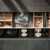 Design keuken met exclusief uittrekelement