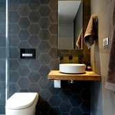 Portugese cementtegel badkamer Azule Hexagone s800
