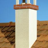 Vierkante schoorsteen nieuwbouw