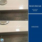 Douchebak schade herstellen | Respo Repair