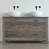 Barnwood badkamerkast met waskom | RestyleXL