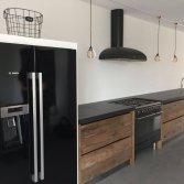 Moderne houten keuken oud eiken