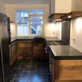 Oud hout keuken u-vorm