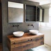 Uniek badmeubel van oud hout | RestyleXL