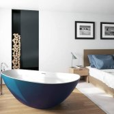 Asymmetrisch solid surface bad | Riho