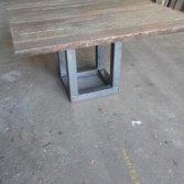 robuuste tafel oude wagondelen