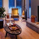 Lina 8770 brede liftdeurhaard hout | Schmid