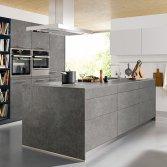 Industriële keuken met betonlook | Schüller
