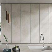 Strakke design keuken kalkgrijs