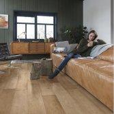 Diepgeborstelde natuurlijke houtenvloer | Solidfloor