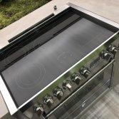 Fornuis met combi-steam oven