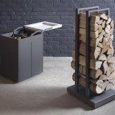 Stuv mobiel houtblokkenkarretje