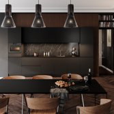 Superkeukens matzwarte keuken Franchetti
