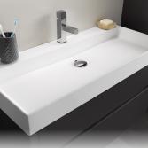Wastafels in mat wit en grijs | Thebalux