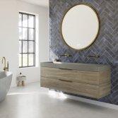 Stoer beton in de badkamer | Thebalux