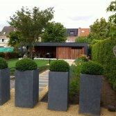 Tuinhuis Cubic met luifel Volkern