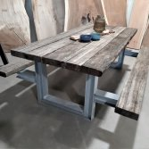 Wagonhouten draglineschot picknicktafel | Woodindustries