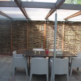 Gevlochten wilgentenen terrasscherm | Wilhout