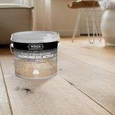 Natuurlijke afwerking voor houten vloer