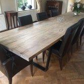 Woodindustries eiken houten eettafel op maat