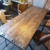 Robuuste eettafel industriële look | Woodindustries